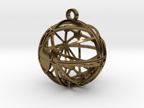 Craters of Mimas Pendant in Polished Bronze