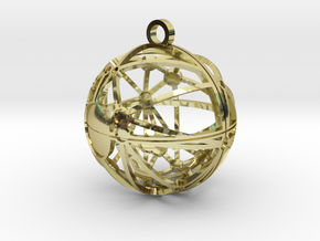 Craters of Mimas Pendant in 18K Gold Plated