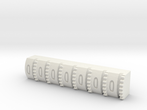 Hengstler Counter 7 Number Roller in White Natural Versatile Plastic
