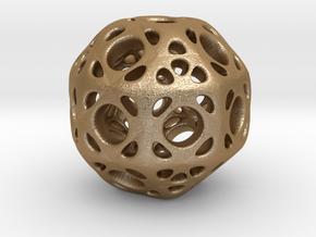 hydrangea ball 01 in Matte Gold Steel