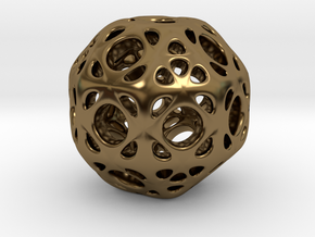 hydrangea ball 01 in Polished Bronze