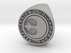 Custom Signet Ring Rebel Legion Size 6 in Aluminum