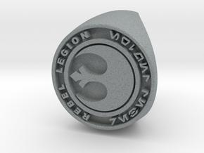 Custom Signet Ring Rebel Legion Size 6 in Polished Metallic Plastic