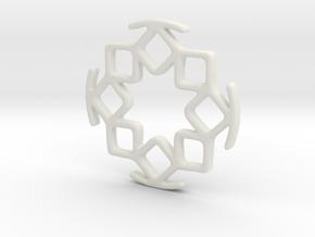 SALADIN earphone organizer  in White Natural Versatile Plastic