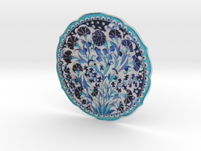 Blue and turquoise Iznik Cini  in Full Color Sandstone