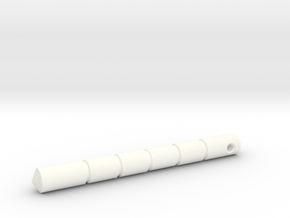 Kubotan in White Processed Versatile Plastic