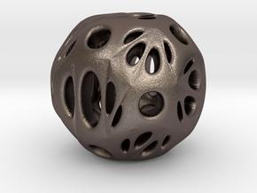 hydrangea ball 03 in Polished Bronzed Silver Steel