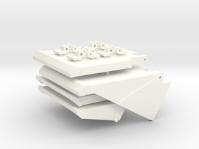 1/16 HL PZ IV Mudflaps (late) in White Strong & Flexible Polished