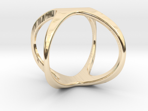 X Cross rind design in 14K Yellow Gold