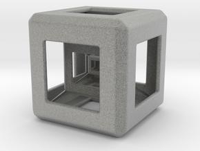 Triple Hyper Cube  in Metallic Plastic