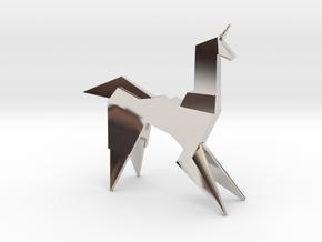 Gaff's Unicorn   Blade Runner Origami in Rhodium Plated