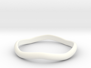 Ring Weaved Shape Design Size 7 in White Processed Versatile Plastic