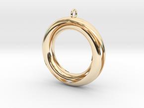 Mobius 3 Pendant in 14K Yellow Gold