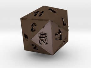 Drinking D24 (D20) in Polished Bronze Steel