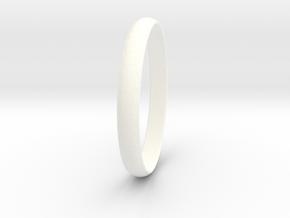 Ring Size 7 Design 3 in White Processed Versatile Plastic