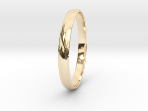 Ring Size 7.5 Design 3 in 14K Yellow Gold