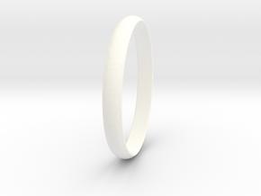 Ring Size 7.5 Design 3 in White Processed Versatile Plastic