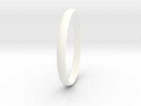 Ring Size 10 Design 3 in White Processed Versatile Plastic
