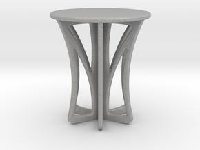 Rocking stool miniature in Aluminum