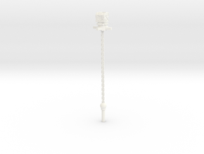 Head Flail Extender in White Processed Versatile Plastic