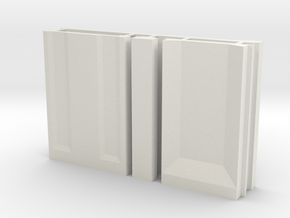 SciFi Pillar and Walls - Basic Wall Set in White Natural Versatile Plastic