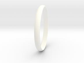 Ring Size 10 Design 4 in White Processed Versatile Plastic