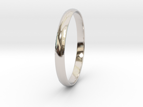Ring Size 9.5 Design 4 in Rhodium Plated Brass