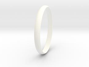 Ring Size 9.5 Design 4 in White Processed Versatile Plastic