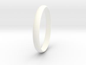 Ring Size 6.5 Design 4 in White Processed Versatile Plastic