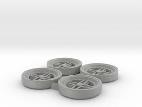 Tapacubos Targa clásicos in Metallic Plastic