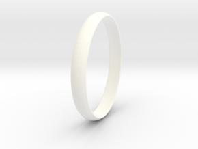 Ring Size 5.5 Design 4 in White Processed Versatile Plastic