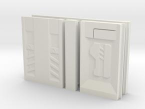SciFi Pillar And Walls - Tech Wall in White Strong & Flexible