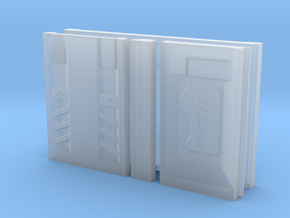 SciFi Pillar And Walls - Tech Wall in Smooth Fine Detail Plastic
