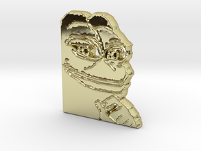Pepe Pendant in 18k Gold Plated Brass