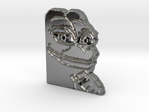 Pepe Pendant in Fine Detail Polished Silver