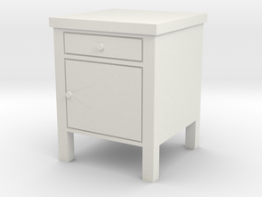 1:24 Hopsital Night Stand in White Natural Versatile Plastic
