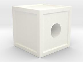 """Geek Beads"" Crate in White Processed Versatile Plastic"