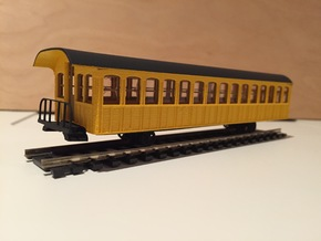 Mt. Washington Cog Railway Coach - HO in Smooth Fine Detail Plastic
