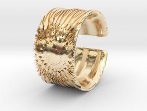 Flower Cut Bracelet in 14K Yellow Gold