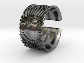 Flower Cut Bracelet in Polished Silver