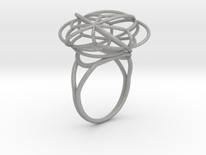 FLOWER OF LIFE Ring Nº2 in Aluminum