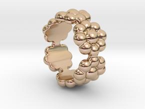 New Flower Ring 14 - Italian Size 14 in 14k Rose Gold Plated Brass