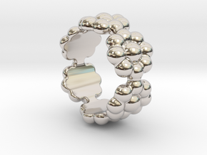 New Flower Ring 15 - Italian Size 15 in Platinum