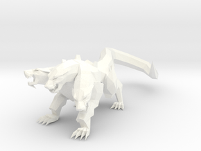 Cerberus Low Poly in White Processed Versatile Plastic