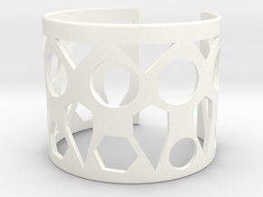 Cubic Bracelet Ø53 Mm Style A XS/2.086 inch in White Processed Versatile Plastic