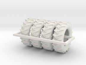 1/64 480/70r34 R1 X 4 Tractor Tires in White Strong & Flexible