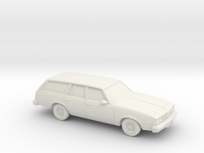 1/87 1984-88 Oldsmobile Cutlass Supreme Cruiser in White Natural Versatile Plastic