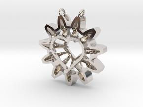 Expand your Reach Pendant in Rhodium Plated Brass