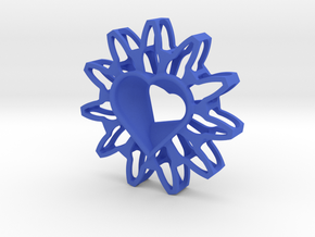 Twisted Chisel Pendant in Blue Processed Versatile Plastic