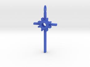 Faith Pendant in Blue Processed Versatile Plastic
